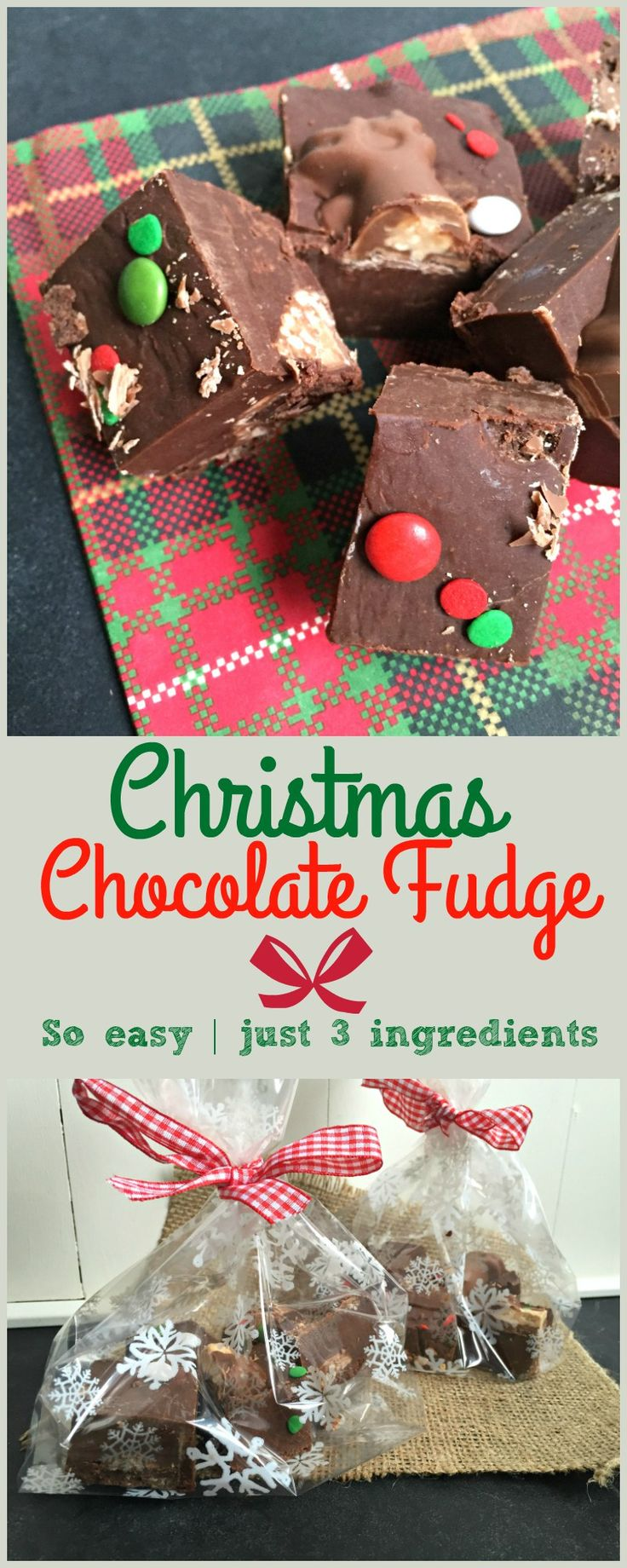 Fast and easy Christmas food gifts to make - Easy Malteser Reindeer Chocolate Fudge