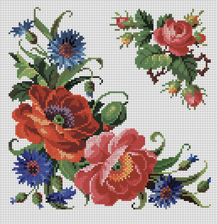 Gallery.ru / реконструкция узора со стр.50 (элемент) - EMBROIDERIES@PATTERNS_from_19 cent from VIENNA_RAFFAELLA_SER - Pentiu-M