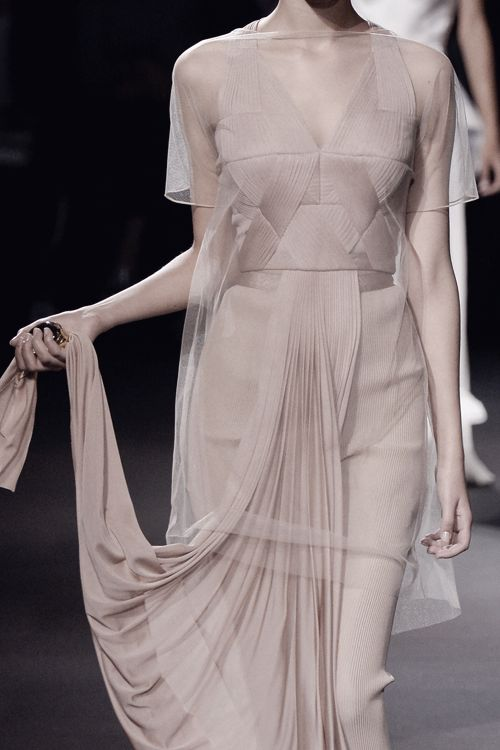 Vionnet SS 2016 sheer constructive fashion