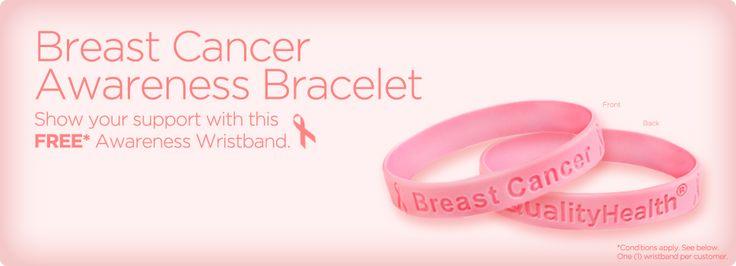 Free Breast Cancer Awareness Bracelet