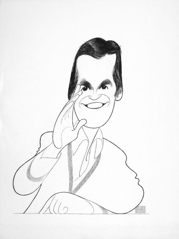 Al Hirschfeld ~ Dick Clark | Creme de la Creme