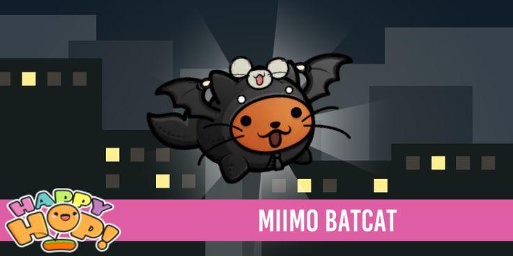 Miimo Batcat from #HappyHop! @PlatonicGames https://itunes.apple.com/app/id1087482860 | platonicgames.com