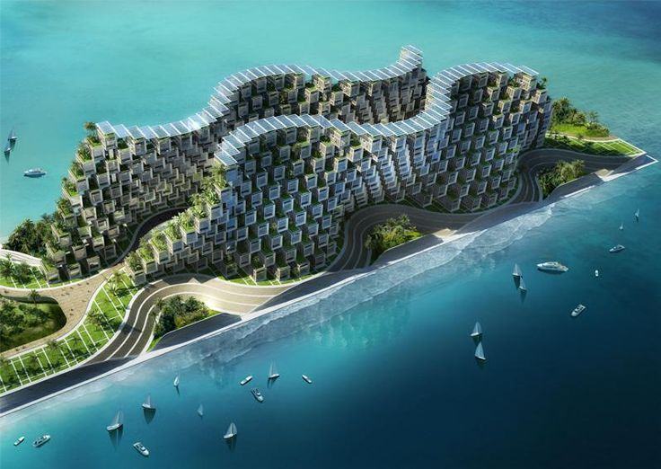 Coral Reef, Matrix and Plug-in for 1000 Passive Houses,   Port-Au-Prince 2011, Haiti by Vincent Callebaut Architectures.