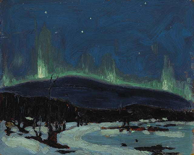 Northern Lights by Tom Thomson. This photo does not do this painting any justice. It is beautiful seeing it in person.