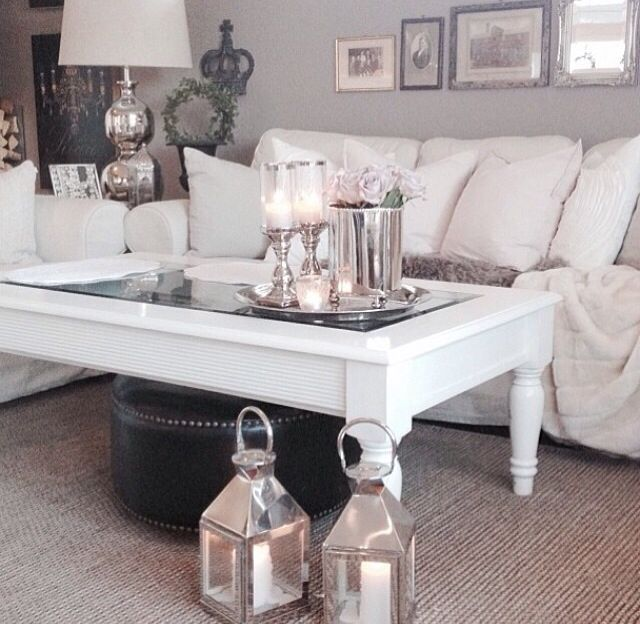 Love This Cosy Grey And White Lounge