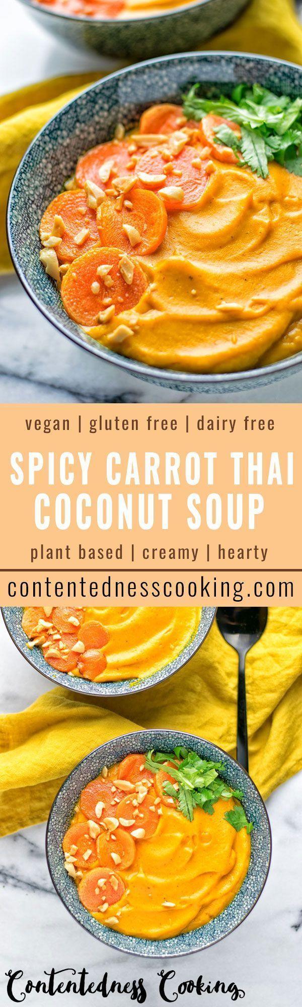 Würzige Karotte thailändische Kokosnusssuppe