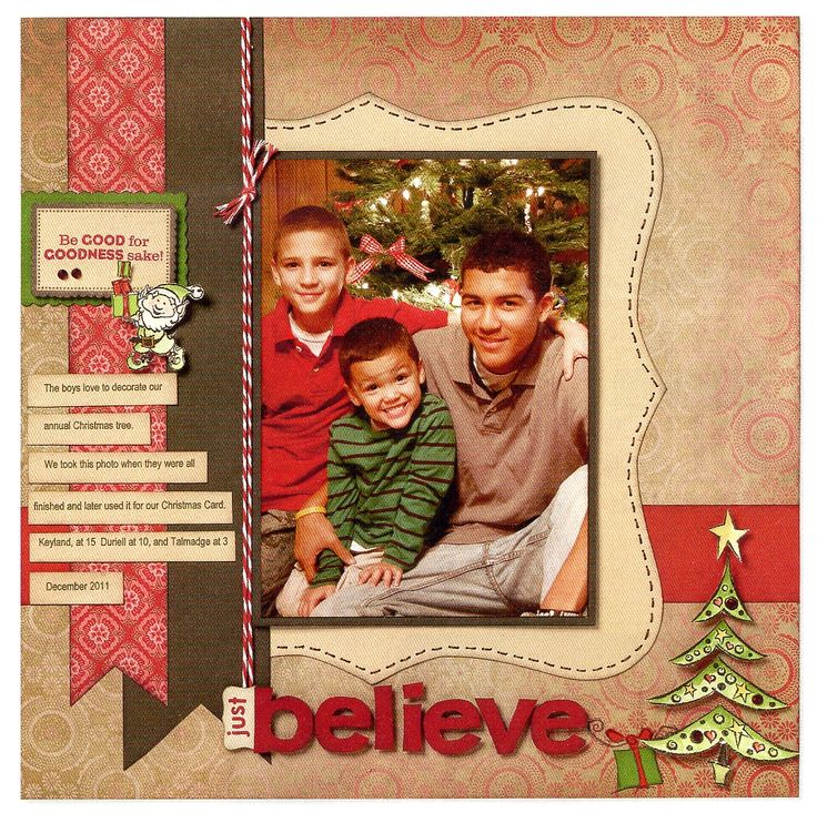 Christmas, scrapbook layout  #CloseToMyHeart #StudioJ