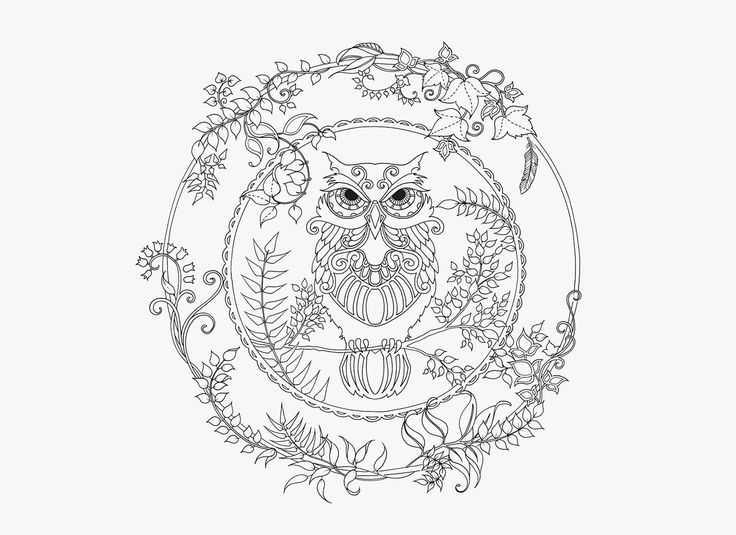 62 best Owl coloring pages images on Pinterest | Owls, Mandalas and ...