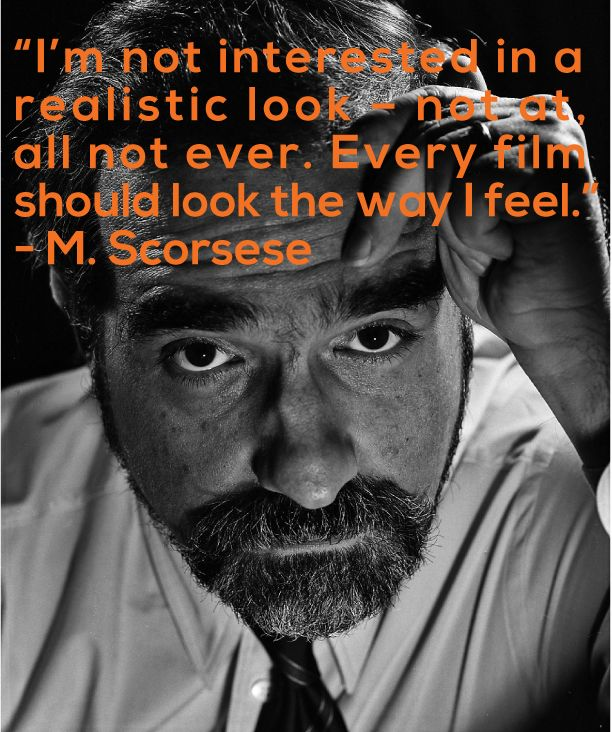 Film Director Quote - Martin Scorsese - Movie Director Quote #scorsese