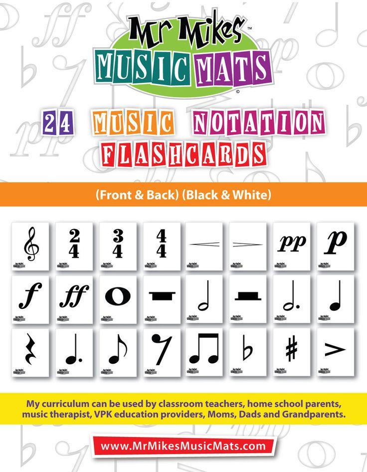 (02) 24 Notation Flashcards-Black & White