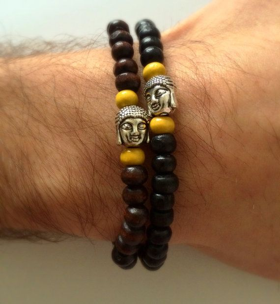 Men Buddha Bracelet For Him Bracelet Spiritual by DanusHandmade
