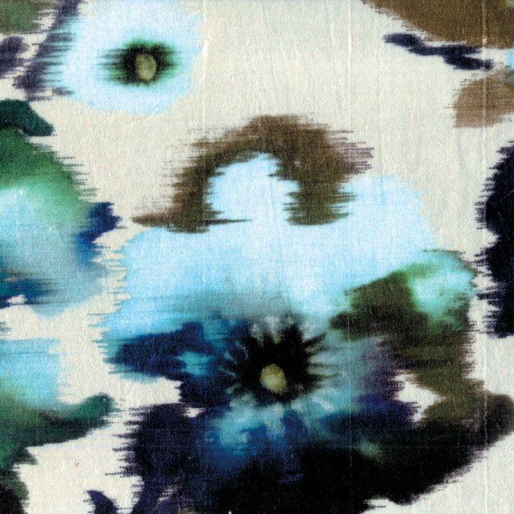 beautiful watery/ikat floral: Idea, Patterns Textiles, Fabrics, Velvet, Textile Design, Floral