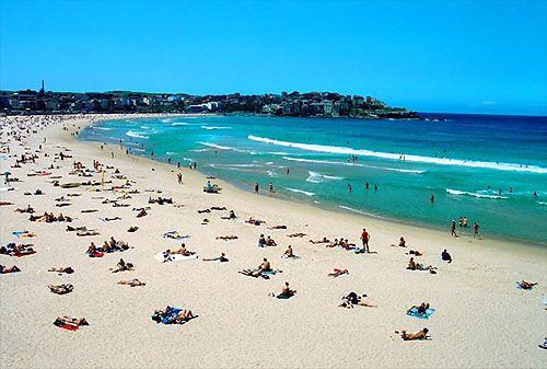 This image is of Bondi Bay, in Sydney  By CJ