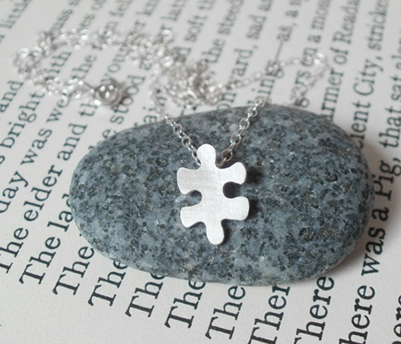 Jigsaw Puzzle Necklace