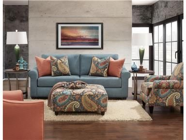 We Covered Our Pacific Paisley Sofa In A Soft Blue Tone And Added Plenty Of  Colorful Pillows For Your Comfort That Will Blend Into Any Color Scheme. Part 44