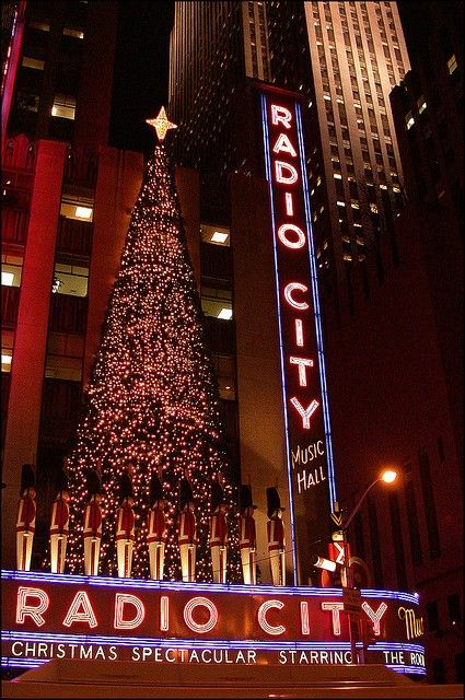 Visit NYC & see the Rockettes at Christmas time! And Central Park! And watch the ball drop on New Years Eve!