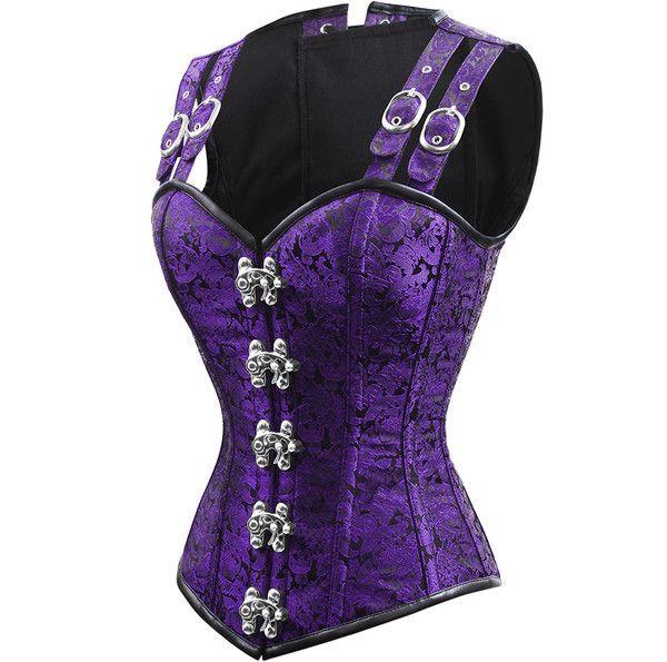 Double Barreled violet royal purple corset. Steel boned to handle even plus size curves. Custom colors available, suitable for waist training! The Violet Vixen - Double-Barreled Tinker Violet's Vice Corset, $140.00 (http://thevioletvixen.com/corsets/strapped-tinker-violets-vice-corset/)