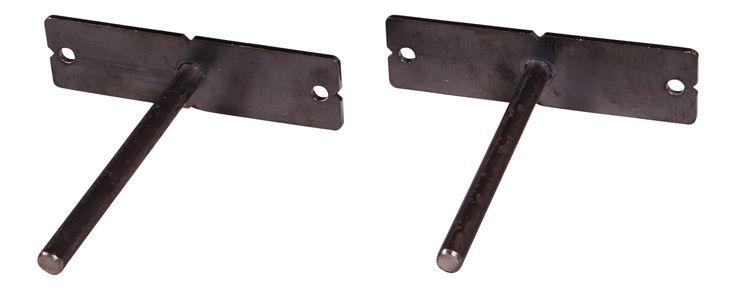 DAKODA LOVE Floating Shelf Brackets (Set of 2), Made in USA, Blind Shelf Supports