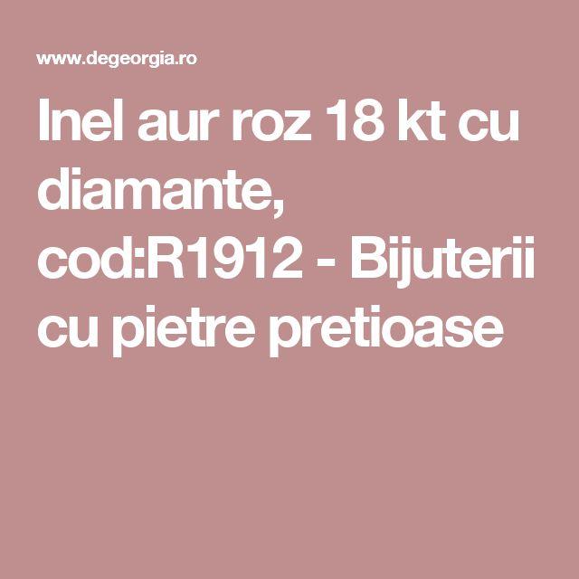 Inel aur roz 18 kt cu diamante, cod:R1912 - Bijuterii cu pietre pretioase
