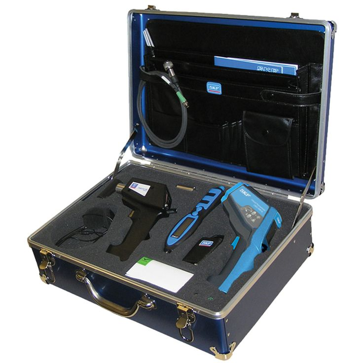 SKF Basic Condition Monitoring Kit CMAK 400-ML. An essential collection of measurement tools for all industrial manufacturing plants. The SKF CMAK 400-ML makes machine health monitoring a simple task for maintenance, operations, reliability, and vibration analysis departments.