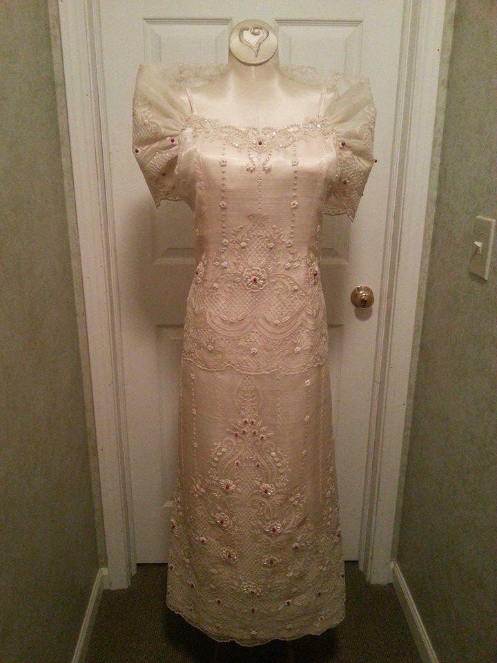 Wedding gown inspired modern Mestiza dress | JRA Designs ...