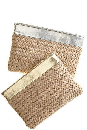 Straw clutch bags
