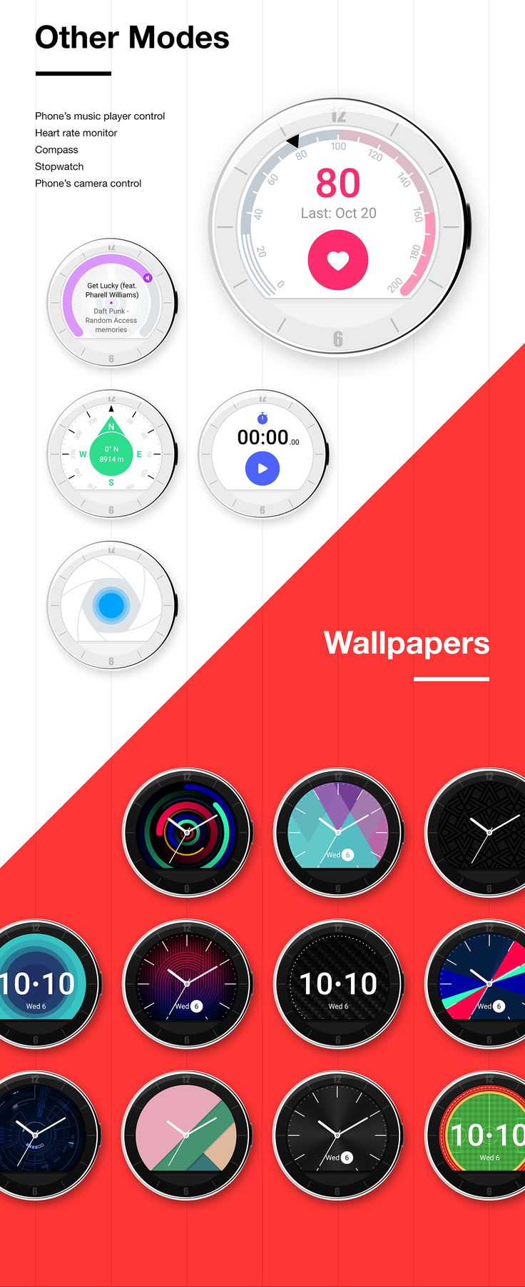 The Top 5 High End SmartWatches Compared Alcatel Watch UX design concept on Behance
