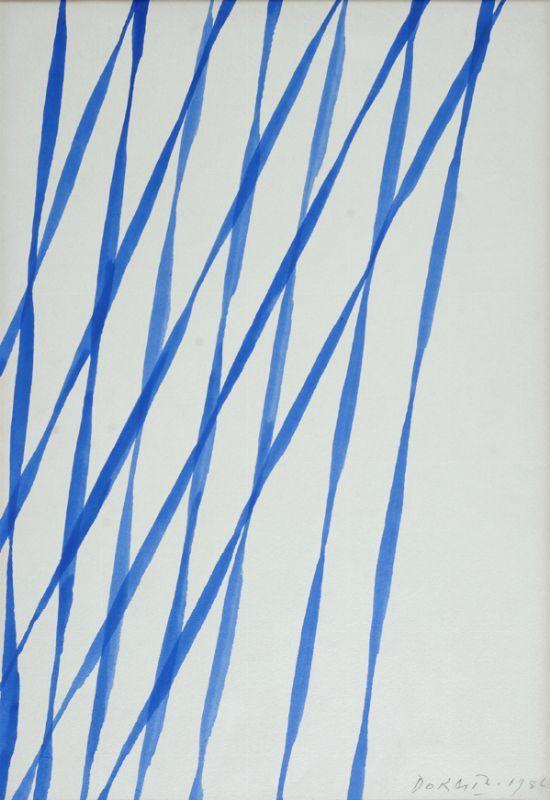 Dorazio Piero : Senza titolo  (1956)  - Acquerello su carta - Asta Autori dell\'800-900, Moderni e Contemporanei, Grafica ed Edizioni - Galleria Pananti - Casa d\'Aste