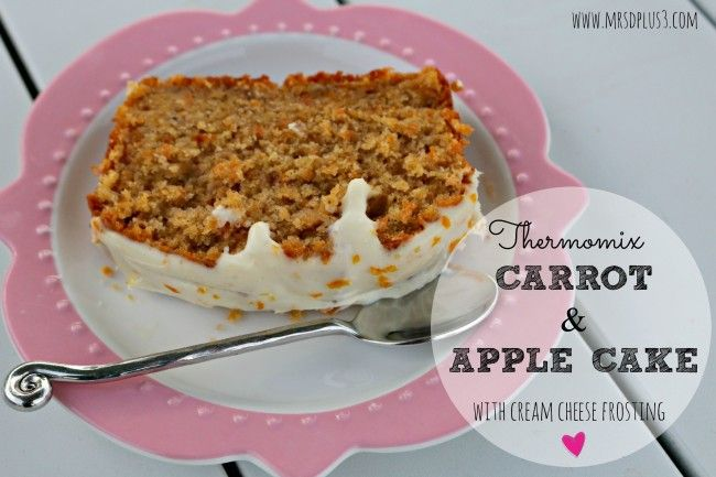 Mrs D plus 3 | The MOST delicious carrot and apple loaf cake made in the thermomix | http://www.mrsdplus3.com