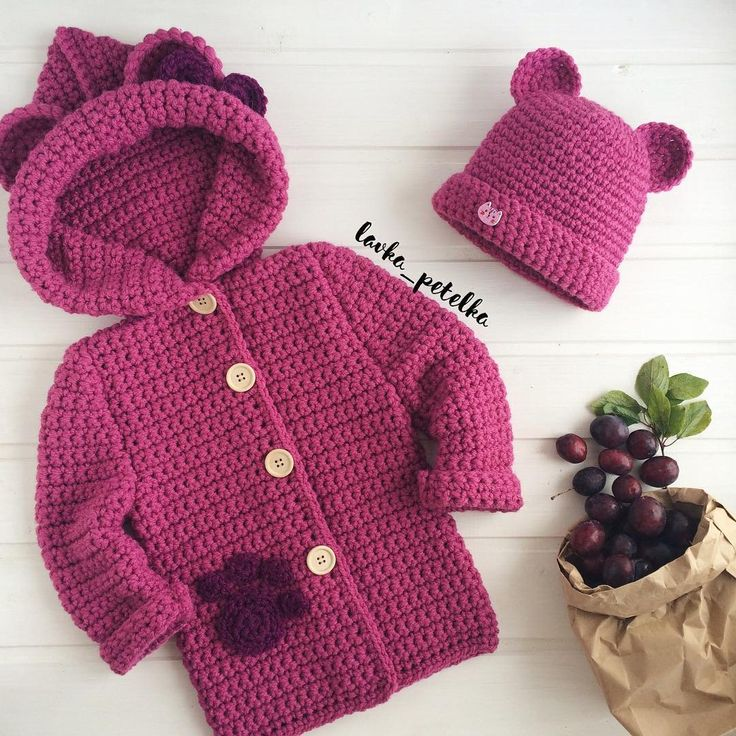 1724 best Crochet Baby Sweater Sets images on Pinterest ...