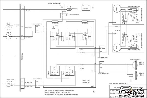 67 Camaro Headlight Wiring Harness Schematic