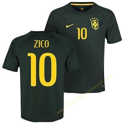 Maillot Football Coupe du Monde Vendre Brésil Zico 10 Troisième 2013-2014