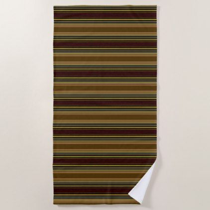 Stripes Browns Modern Beach Towel - modern gifts cyo gift ideas personalize