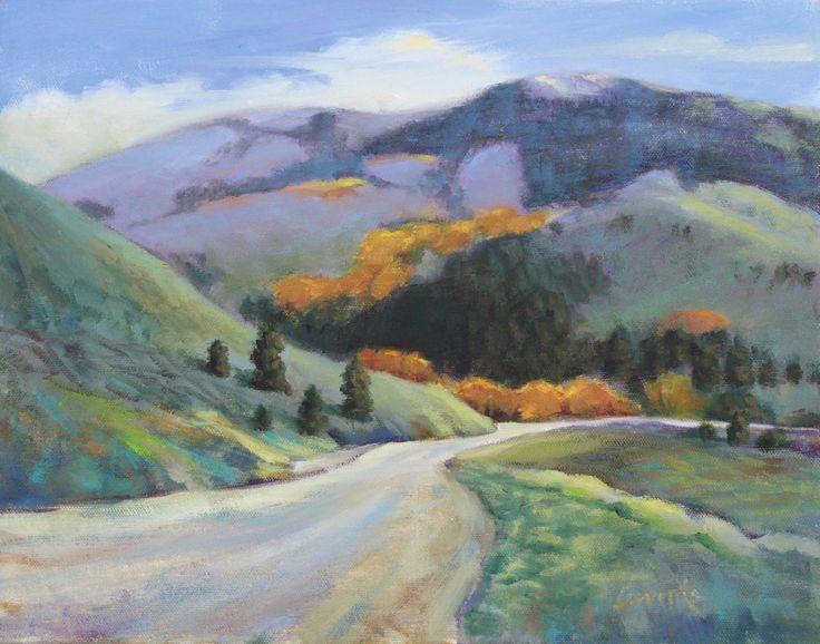 Soldier Mountain Autumn - 11x14 Landscape Painting by Sue Cervenka - NUMA Gallery