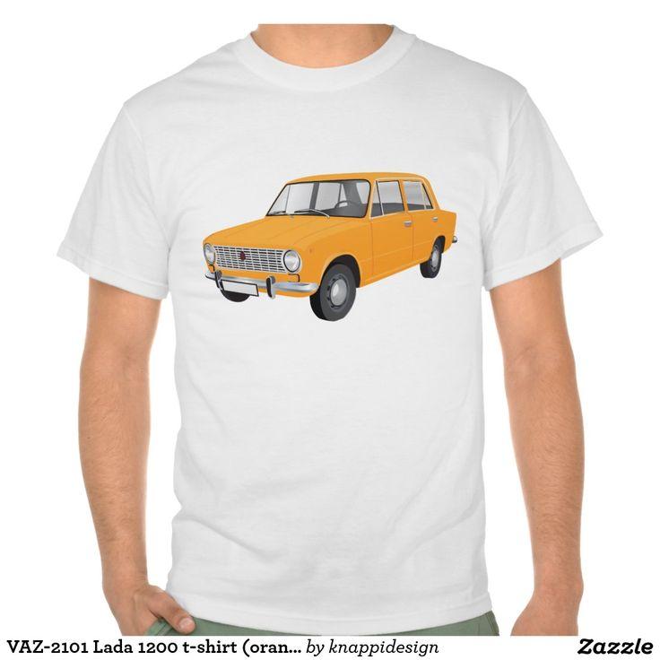VAZ-2101 Lada 1200 t-shirt (orange)  #vaz #vaz2101 #lada #lada1200 #fiat #soviet #sovietunion #automobile #car #tshirt #tshirts #russia #70s #80s #classic #zazzle