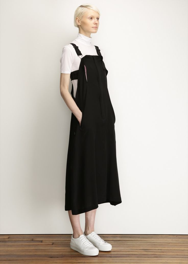 Yohji Yamamoto http://totokaelo.com/yohji-yamamoto/salopette-jumpsuit/black/P18479