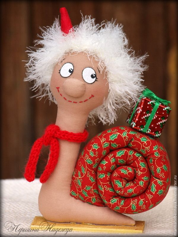 Улиточка в новогоднем стиле своими руками - Ярмарка Мастеров - ручная работа, handmade