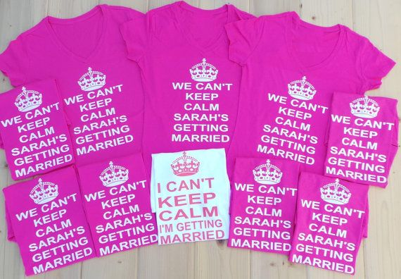 Personalized Name I Can't Keep Calm I'm Getting by JWBridalShop, $25.00