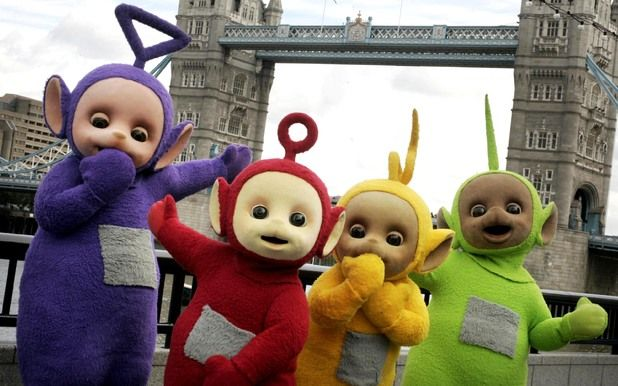 Teletubbies..I bought Teriann the talking Po Teletubby doll. She loved the show and her doll. So many years ago...M.W. 1/16/16