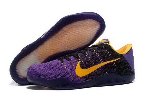 Cheap Kobe 11 Shoe Purpel Black Gold For Sale