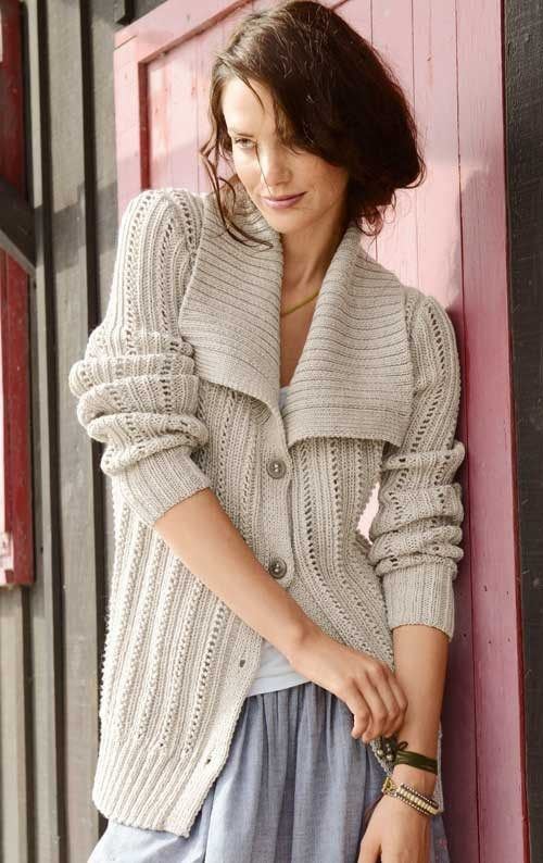 Wide Collar Cardigan Knitting Pattern and more cardigan sweater knitting patterns