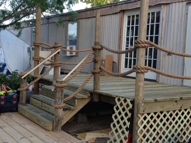 8x16 Deck Looks Like A Pier Complete With 100 Of Manila