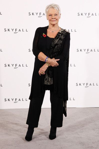 judy dench....left Bond 2012,, but will she come back after a time? she sure has it..