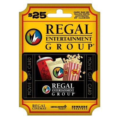 Regal Cinemas Gift Card - $25  Lexi LOVES going to the movies!