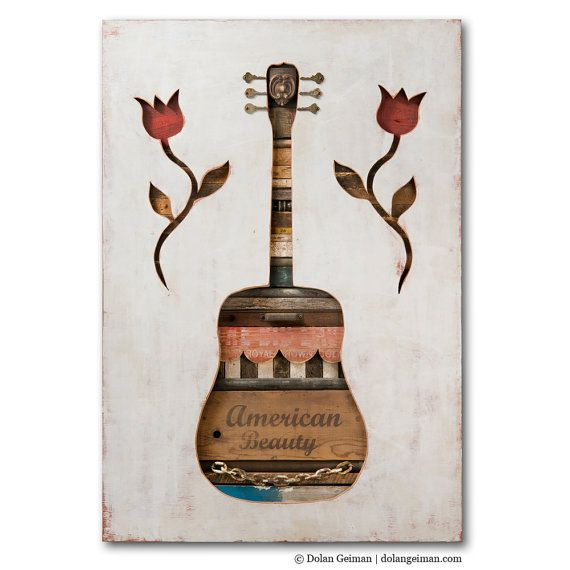 Southern Texas Guitar Country Music Decor Made in by dolangeiman, $2500.00