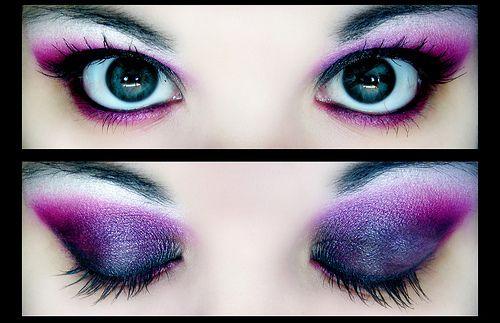 Favorite colorsPurple Eyeshadows, Shades Of Purple, Eye Makeup, Butterflies, Bright Eye, Dramatic Eye, Eye Shadows, Beautiful, Eyemakeup