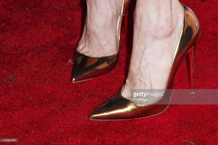 Actress Sally Hawkins (shoe detail) attends the GREAT British Film Reception Honoring The British Nominees Of The 86th Annual Academy Awards at the British Consul General?s Residence on February 28, 2014 in Los Angeles, California.