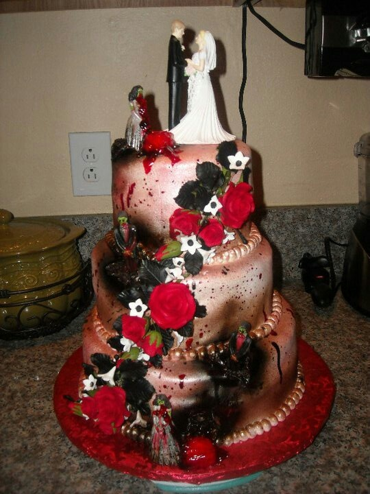 Zombie wedding cake!!! @Lacey Jernigan