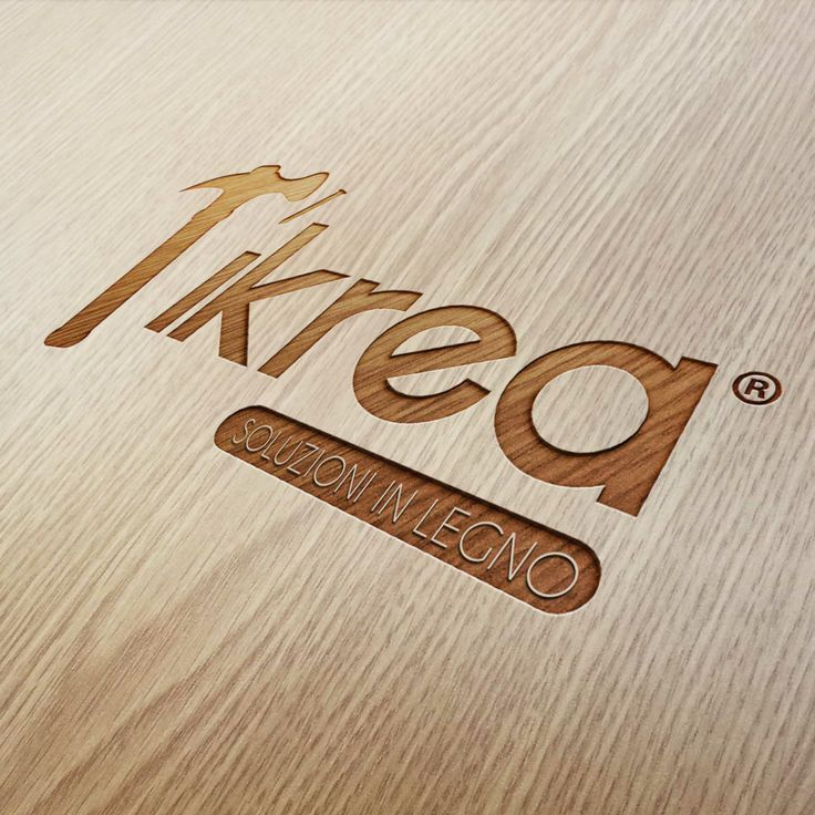 Creation logo for Tikrea® wooden solutions
