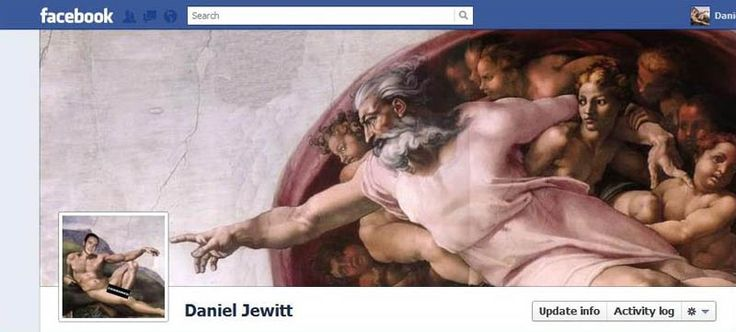 i should really go to more trouble with my facebook cover photo...